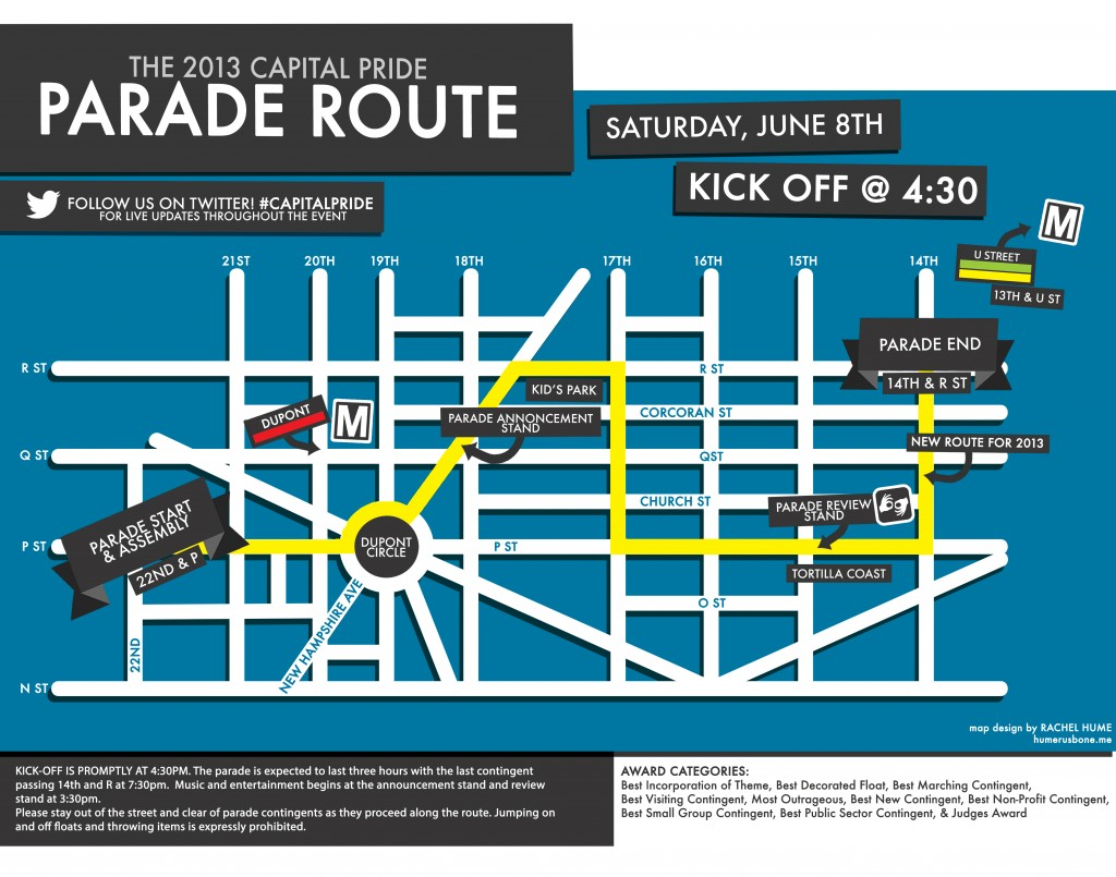 Capital Pride 2013 Parade Map